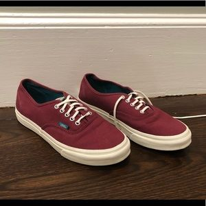 Maroon and Deep Teal Authentic Vans